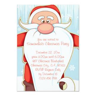 """Dibujo animado lindo Santa con la fiesta de Invitación 5"""" X 7"""""""