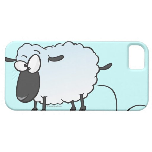 dibujo animado lindo tonto de las ovejas del corde iPhone 5 carcasas