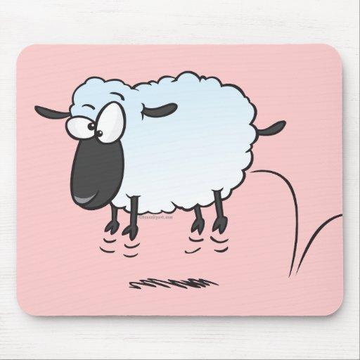 dibujo animado lindo tonto de las ovejas del corde alfombrillas de ratón
