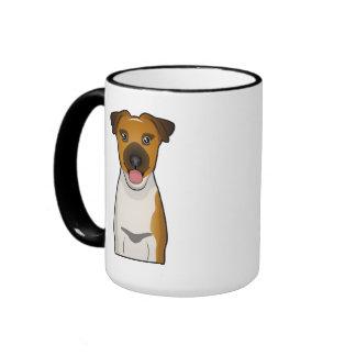 Dibujo animado liso del fox terrier taza de dos colores