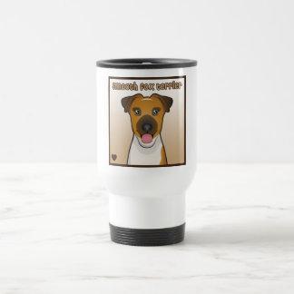 Dibujo animado liso del fox terrier taza de viaje