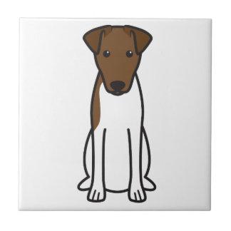 Dibujo animado liso del perro del fox terrier azulejos cerámicos