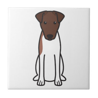 Dibujo animado liso del perro del fox terrier teja