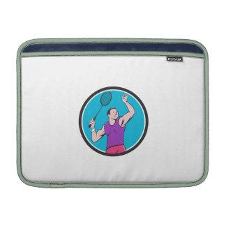 Dibujo animado llamativo del círculo de la estafa funda para macbook air