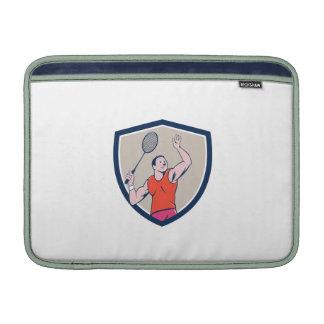 Dibujo animado llamativo del escudo de la estafa fundas para macbook air