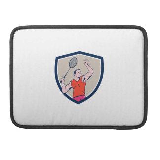 Dibujo animado llamativo del escudo de la estafa fundas para macbooks