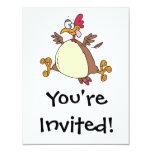 dibujo animado loco de la gallina del pollo anuncio personalizado