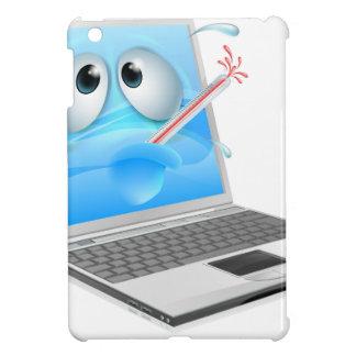 Dibujo animado mal del virus de ordenador portátil