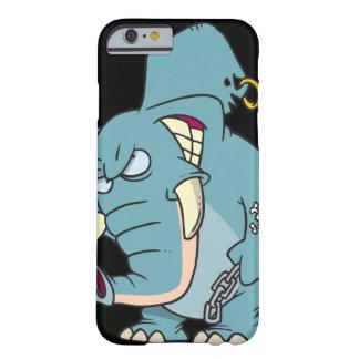 dibujo animado malo del elefante de los badass funda de iPhone 6 barely there