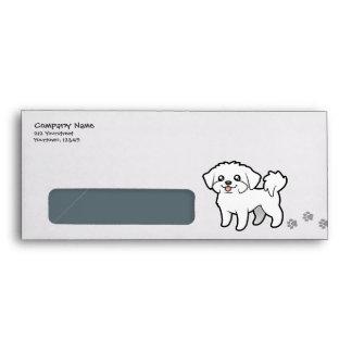 Dibujo animado maltés (perrito cortado) sobres