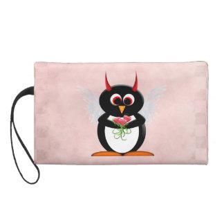 Dibujo animado malvado del Cupid del pingüino