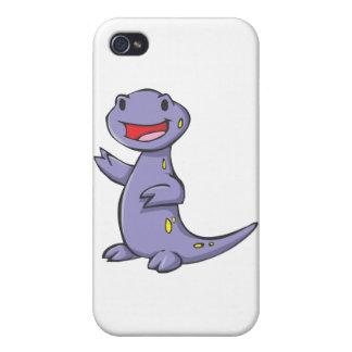 Dibujo animado manchado feliz del Salamander iPhone 4 Carcasa