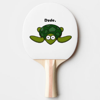 Dibujo animado maravilloso del tipo de la tortuga pala de ping pong