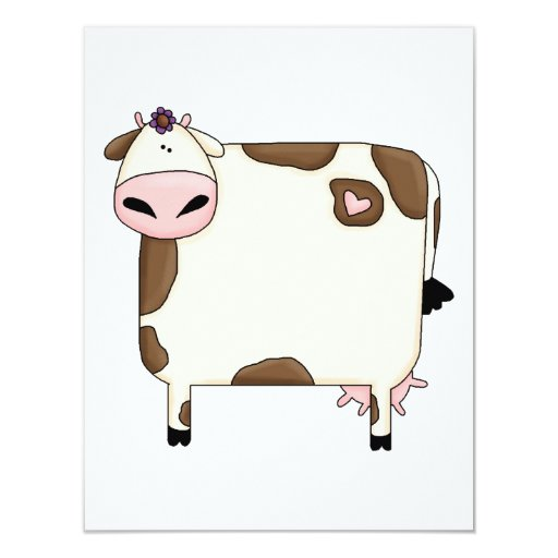 """dibujo animado marrón y blanco gordo tonto de la invitación 4.25"""" x 5.5"""""""