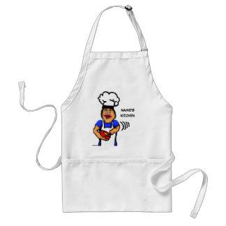 Dibujo animado masculino del cocinero delantal