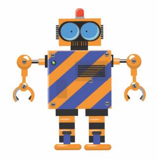 Dibujo animado mecánico del robot fotoescultura vertical