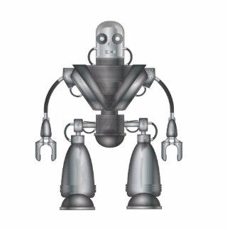 Dibujo animado mecánico del robot pin fotoescultura