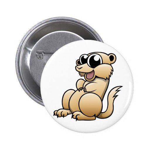 Dibujo animado Meerkat Pins