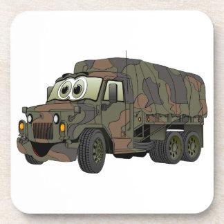 Dibujo animado militar del portador de tropa posavasos de bebida