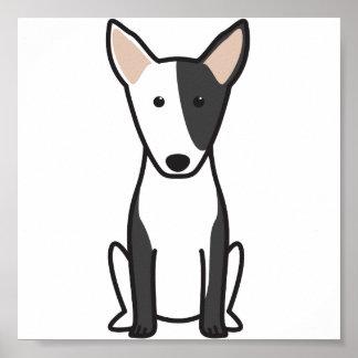 Dibujo animado miniatura del perro de bull terrier posters