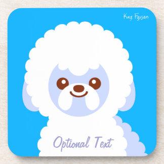 Dibujo animado minimalista del perro de Bichon Posavaso