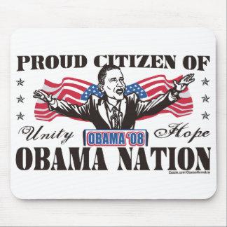 Dibujo animado Mousepad de la nación de Obama Tapetes De Ratones