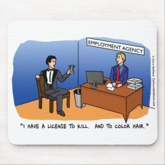Dibujo animado Mousepad de la recesión
