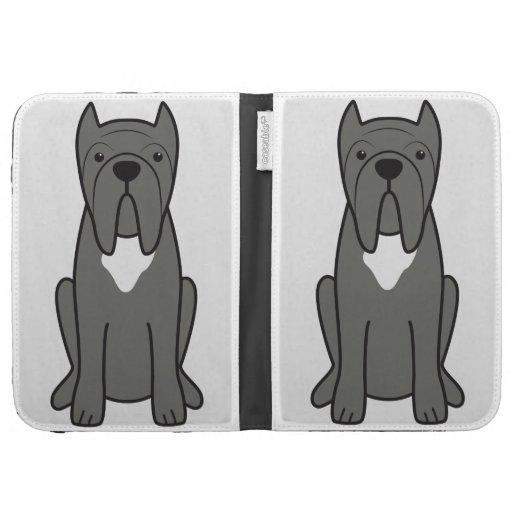 Dibujo animado napolitano del perro del mastín