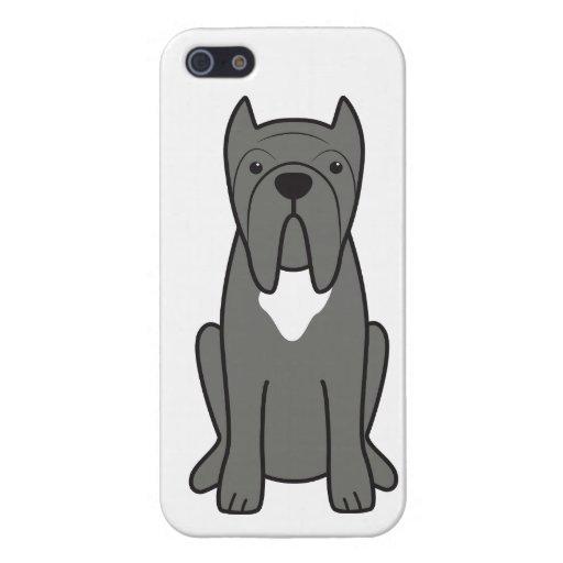 Dibujo animado napolitano del perro del mastín iPhone 5 carcasa