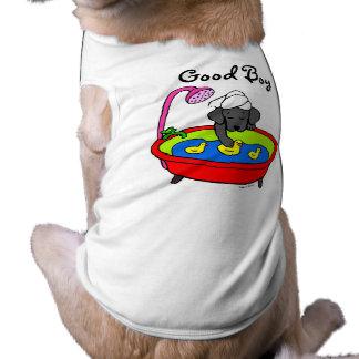 Dibujo animado negro de los patos de Labrador y de Playera Sin Mangas Para Perro
