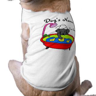 Dibujo animado negro de los patos de Labrador y de Prenda Mascota