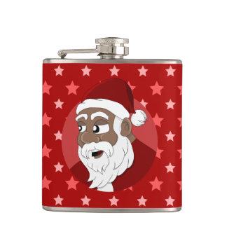 Dibujo animado negro de Papá Noel