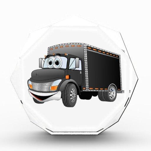 Dibujo animado negro del camión de reparto