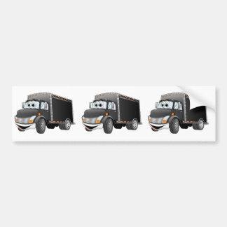Dibujo animado negro del camión de reparto pegatina para auto