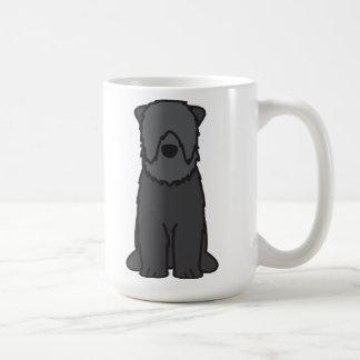 Dibujo animado negro del perro de Terrier del ruso Taza De Café