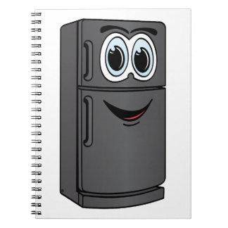 Dibujo animado negro del refrigerador notebook