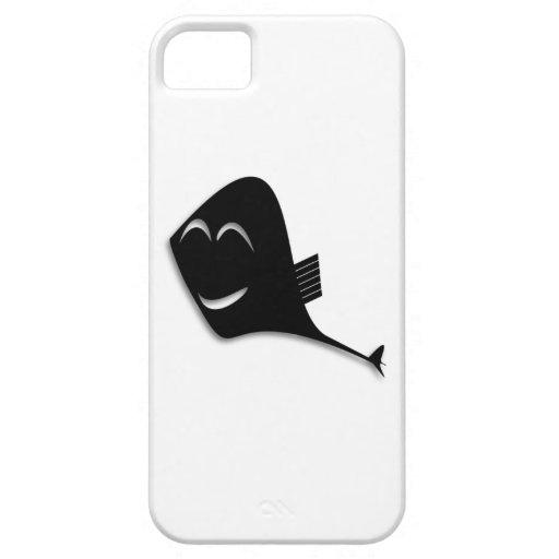 Dibujo animado negro feliz de los pescados iPhone 5 carcasas