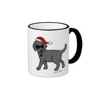 Dibujo animado negro fresco del navidad de Labrado Tazas De Café