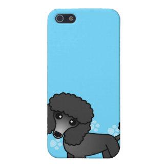 Dibujo animado negro lindo del caniche iPhone 5 protector
