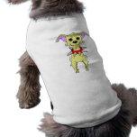 Dibujo animado nervioso de la chihuahua ropa para mascota