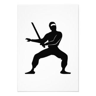 Dibujo animado Ninja Invitación