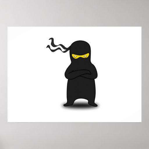 Dibujo animado Ninja Póster