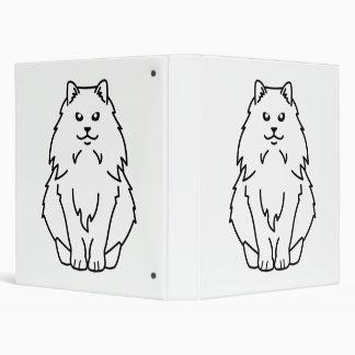 Dibujo animado noruego del gato del bosque