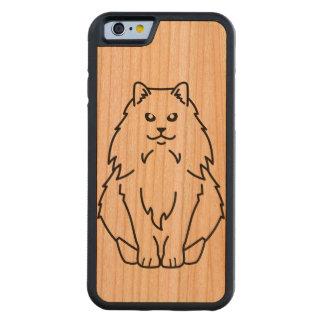 Dibujo animado noruego del gato del bosque funda de iPhone 6 bumper cerezo