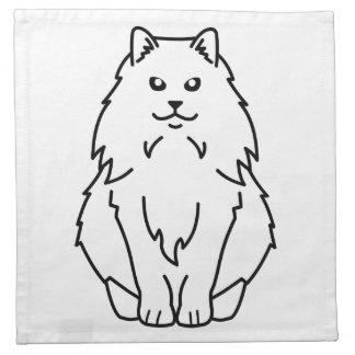 Dibujo animado noruego del gato del bosque servilleta imprimida