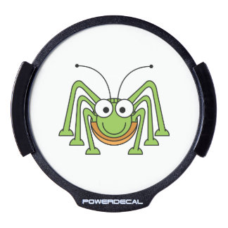 Dibujo animado observado insecto del saltamontes pegatina LED para ventana