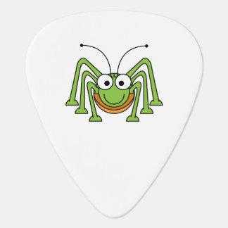 Dibujo animado observado insecto del saltamontes púa de guitarra