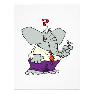 dibujo animado olvidadizo divertido del elefante flyer a todo color