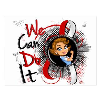 Dibujo animado oral WCDI.png de Rosie del cáncer Tarjeta Postal
