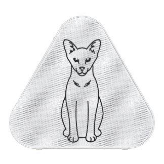 Dibujo animado oriental del gato del uno mismo altavoz